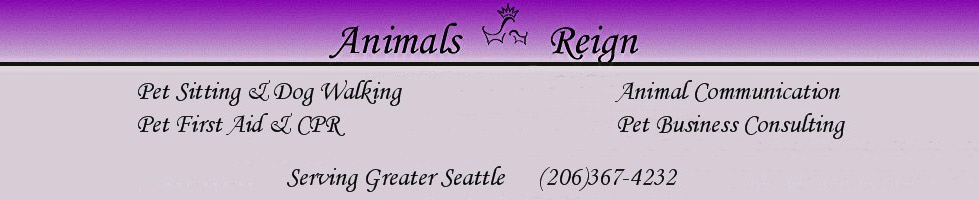 Animals Reign, llc, your Seattle resource for all things pet related